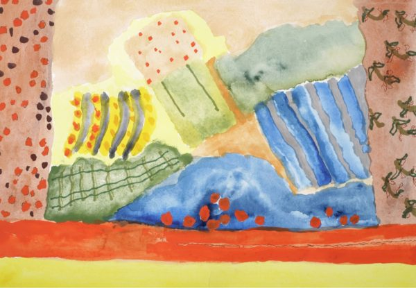 dreaming-march-2006-watercolour-on-handmade-paper-framed-and-glazed-69x54-425